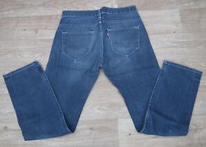 LEVIS 504 MENS STRETCH REGULAR STRAIGHT FADED BLUE JEANS LEG W32 L32