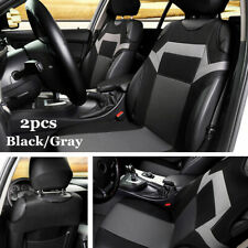 2x Polyester Fabric Universal Car Seat Cover Front Seat Back Head Rest Protector