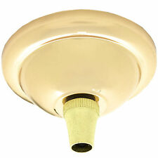 Small Metal Ceiling Rose Kit with Assembly Instruction in Brass Finish
