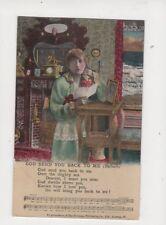 God Send You Back To Me WW1 Song Card Postcard 172b