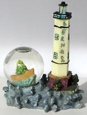 Bermuda Lighthouse Mini Snow globe Ocean Sea Boat Fir Tree Rare