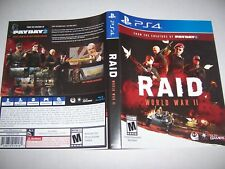 Original Replacement Case Box PlayStation 4 PS4 Raid World War II 2 *NO GAME*