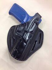Leather PANCAKE Holster - RUGER P85 / P89 / SR9 / SR40  (# 8089 BLK)