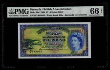 £1 1966 Bermuda / British Administration PMG 66 EPQ Gem Uncirculated