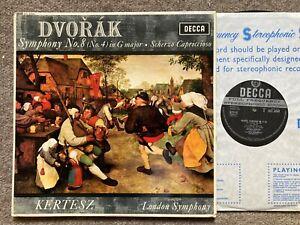 SXL 6044 WBg ED1 DVORAK - SYMPHONY NO 8 etc LP, London S/O, Kertesz..NM