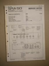 Roland SRA-50 Stereo Power Amplifier Service Notes First Edition Manual