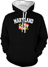 Maryland State Flag Pride Calvert and Crossland Cecil 2-tone Hoodie Pullover
