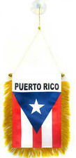 "Wholesale lot 3 Puerto Rico Mini Flag 4""x6"" Window Banner w/ suction cup"