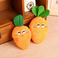 Cute Plush Sound Squeaky Dog Toys Chew Puppy Training Toy Carrot Pet Supplies AU
