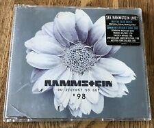 RAMMSTEIN - Du Riechst So Gut '98 *MaxiCD* 9-Tracks STICKER / Tour Dates *RAR*