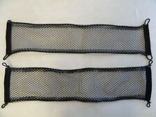 """UNIVERSAL BLACK CARGO NET WITH BUNGEE CORD  27 1/2"""" X 6""""  PAIR (2) MARINE BOAT"""