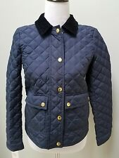 J.Crew Quilted Tack Jacket Navy outerwear coat jacket Size XS