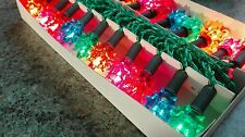 VINTAGE BOXED 20 XMAS CHRISTMAS FAIRY LIGHTS PUSH IN 1980'S brand new boxed