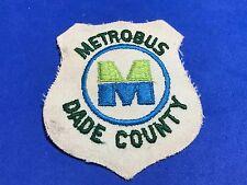 Vintage Metrobus M Dade County Logo Florida Miami Iron on Patch Blue Green
