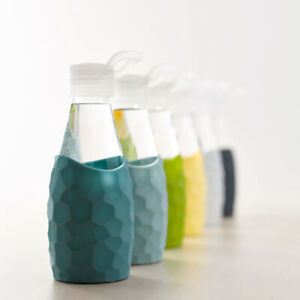 NEW Glass Bottle with Silicone Sleeve - Various Colours and Sizes