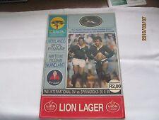 Rugby Union Magazine--FNB International XV v Springboks 1989