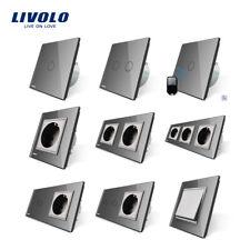 Livolo Glas Touch Dimmer Lichtschalter Touchcreen Wechselschalter Steckdose