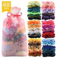 60 Pcs Premium Velvet Hair Scrunchies Hair Bands Scrunchy Hair Ties Ropes Scrunc
