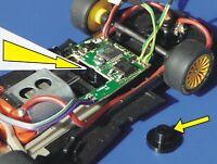 Slotcar HALTER für Carrera Digitaldecoder für UMBAU an Slot it / NSR / FLY  2673