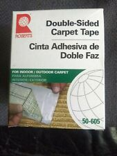 New listing Roberts Indoor/Outdoor 3 in. x 15 ft. Double-Sided Carpet Tape Roll 50-605-12