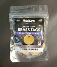 """1"""" Solid Brass Stamping Tags (100 Pack) Industrial Grade"""