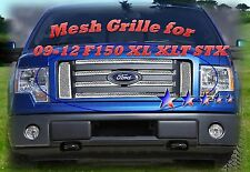 2012  2011 2010 Ford F150 F-150  Stainless Mesh Grille only For XL/XLT/STX
