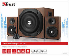 TRUST 20245 VIGOR WOOD EFFECT 2.1 SPEAKER SET WITH 100W PEAK, 50W RMS POWER