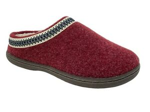 Clarks Womens Wool Felt Clog Slippers Cozy Indoor Outdoor Plush Faux Fur Lined