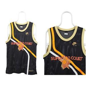 Mens Nike Air Supreme Court Jersey Mesh Shirt Baseball Black Size S