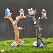 Fairy Garden Kit Dollhouse Miniature Mini Branches Owl Micro Landscape DIY Decor