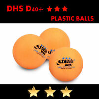 100 pcs DHS D40+ 3Star Table Tennis Plastic Ping Pong Balls Color Orange