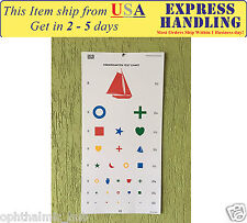 Kindergarten Distance Vision Chart with Color Symbols 6m / 20ft Ship from USA