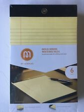 Gold Series Narrow Ruled Writing Pads 5