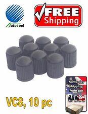 10 PLASTIC BLACK Tire/Wheel Valve Cap for Car-Truck-Hot Rod VC8