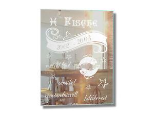 * Spiegel mit Gravur Sternzeichen Fische 2 Geschenk Geburtstag Deko *