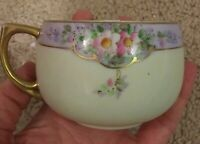 Vintage Meito China Teacup Made in Japan Roses with Gold Trim