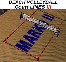 LINIEN für VOLLEYBALL Spielfeldmarkierung 8 x16 9x18 verstellbar BEACHVOLLEYBALL