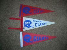 "New York Giants vintage 12"" mini pennant lot"