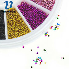 New 1 Wheel 12 Colors Caviar Ball Nail Art Rhinestone Glitter Decoration ZP206