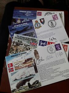 4 SIGNED RAF WW11 COVERS