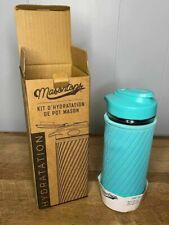 New listing Masontops Glass Water Bottle Set Mason Jar Lid Neoprene Turquoise Sleeve kit