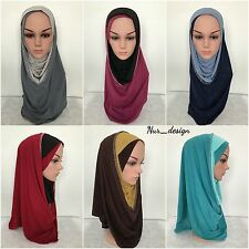 Al Amira Polyester PULL ON READY JERSEY Hijab One Piece Stretch Scarf USA Seller