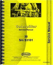 Caterpillar 30 Crawler Service Manual (CT-S-30 S3101)
