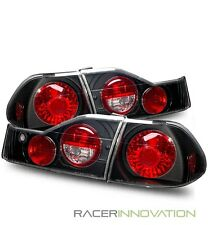 For 98-00 Honda Accord 4 Door Sedan Black Altezza Tail Lights Brake Lamps