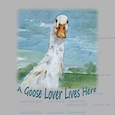 More details for goose lover new hardboard plaque tile design sandra coen art watercolour print