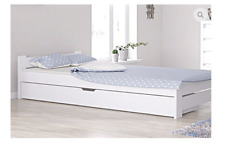 Doppelbett 120x200 weiß bettkasten schublade weiss jugendbett senior Lattenrost