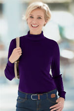 Ladies Long Sleeve Roll Polo Neck Thermal T-Shirt Top Turtle Neck Top