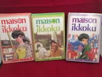 All 3 Maison Ikkoku Vol's 1,2 & 3 by Rumiko Takahashi Manga Book in English Used