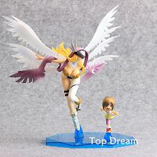 Anime Digimon Adventure Yagami Hikari & Angewomon PVC Figure Model Doll Toy Gift