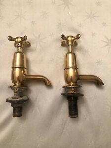 Antique brass taps